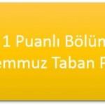 TM – 1 Puanlı Bölümler – Taban Puanları ve Başarı Sıralamaları