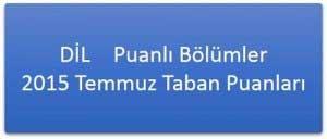 Yabancı Dil (DİL) Puanlı Lisans Programları