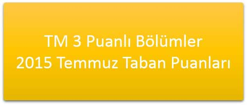 TM 3 Puanlı Bölümler