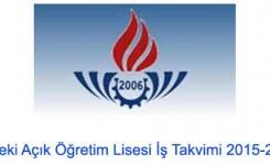 MAÖL 2015-2016 1. DÖNEM KAYIT TAKVİMİ AÇIKLANDI!