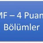 MF-4 Puanlı Lisans Programları
