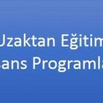 Uzaktan Öğretim Programları 2015 ÖSYS Taban Puanları