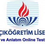 Açık Lise Dil ve Anlatım 1 Test 1