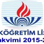 Açık Öğretim Lisesi İş Takvimi 2015-2016