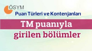 TM Puanlı Bölümler