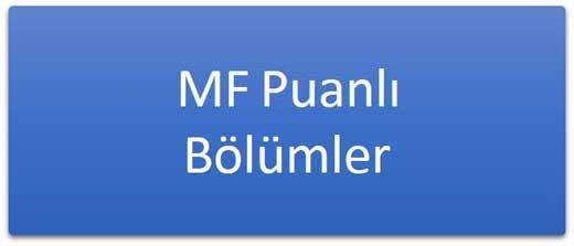 MF Puanlı Lisans Programları Taban Puanları