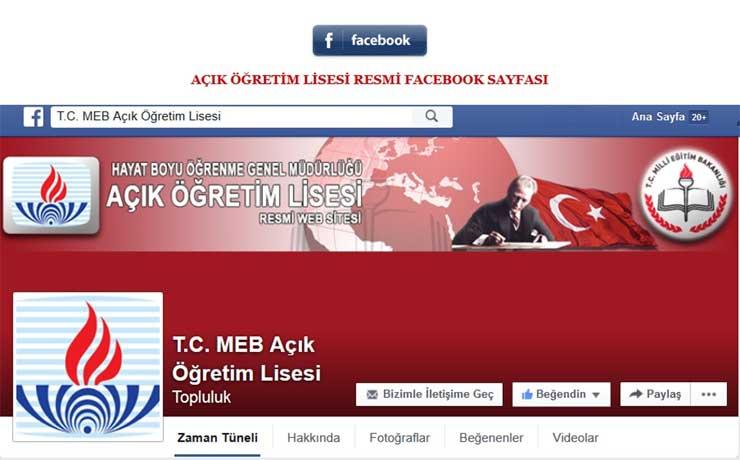 Açık Öğretim Lisesi Resmi Facebook Sayfası Değişti