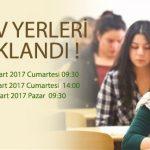 Açık Lise 2016/2. dönem sınav giriş yerleri açıklandı.