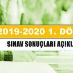 7-8 Aralık 2019 – 1.  Dönem sınav sonuçları açıklandı
