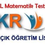 Açık Lise Matematik Testi Çöz 2018 2019
