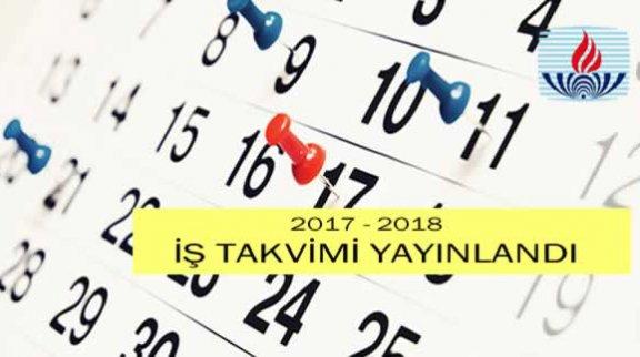 2018 kayıt ve sınav tarihlerini gösteren Açık Lise 2017-2018 İş Takvimi