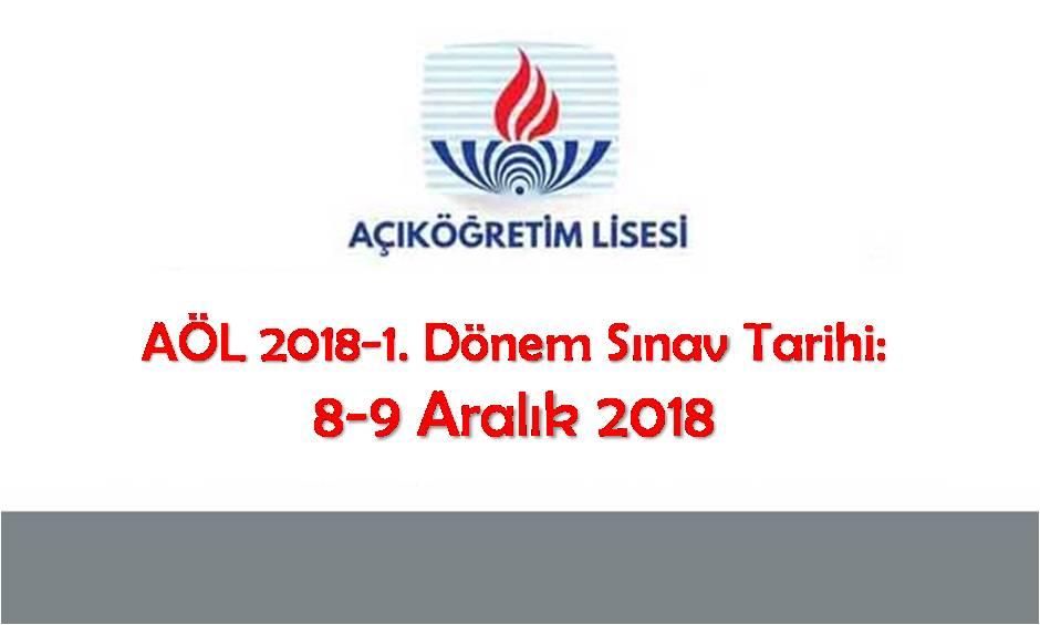Açık Lise 2018-1. dönem sınav tarihi 8-9 Aralık 2018