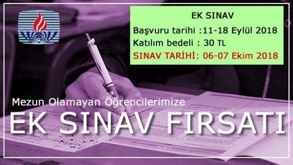 Açık Lise 2018 Ek Sınav Başvuruları Başladı, Son Gün 18 Eylül 2018