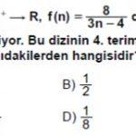 Açık Lise Matematik 5 Test 1