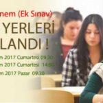 AÖL 6 Ekim 2018 Ek Sınav Sınav Giriş Yerleri açıklandı