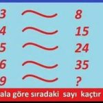 Zeka sorusu: Bu kurala göre sıradaki sayı kaçtır?